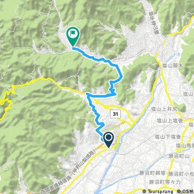 山梨市万力→フルーツパーク→鼓川温泉