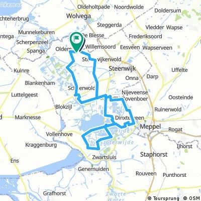 23-8-2016 Paasloo-Giethoorn-de Wieden route