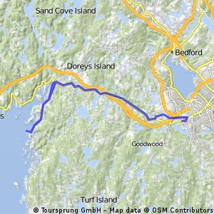 Cycling routes and bike maps in and around Halifax Bikemap Your