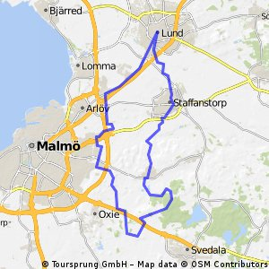 Cycling routes and bike maps in and around Lund Bikemap Your