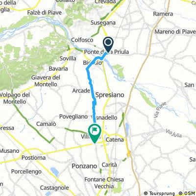 Bike Tour from Ponte della Priula to Villorba (TV)