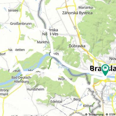 Bratislava - Hainburg - Schloss Hof - Devinska - Devin - Bratislava
