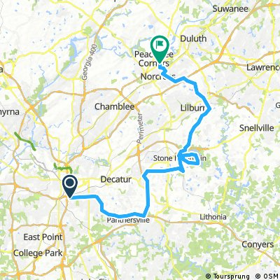 Ride and Shoot Route