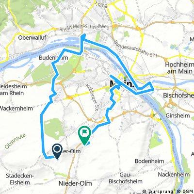 Lange Ausfahrt von Ober-Olm nach Klein-Winternheim