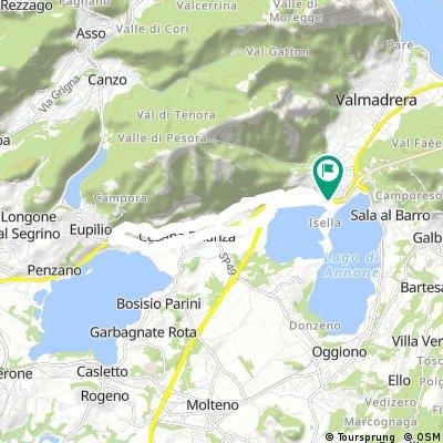 Civate (Isella) - Cava di Pusiano - Isella