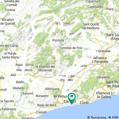 CALAFELL 160KM LLACUNA TORNANT PER PONTILS