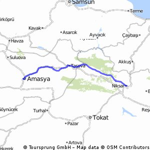 Cycling routes and bike maps in and around Amasya Province Bikemap