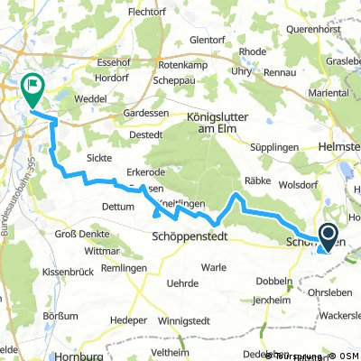 Lange Ausfahrt von Schöningen nach Braunschweig