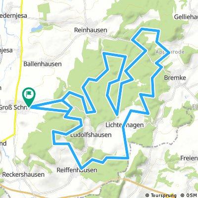 Groß Schneen/Gleichen Waldtour 42,7km/640hm
