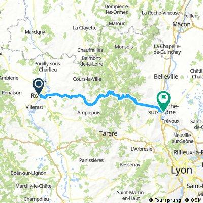 2016 Ride Day 142 - Roanne to Villefranche-sur-Saone