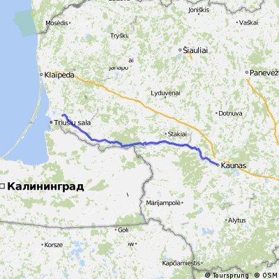 "LT-BaltiCCycle.eu Route LT2 ""Memelradweg / Nieman Cycle Trail"" (Kaunas-Silute)"
