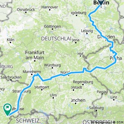 Berlin Montbéliard via Prague