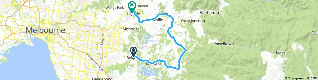 Belgrave to Lilydale via Gembrook and Kurth Kiln