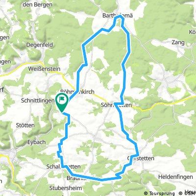 ALB 002: Steinenkirch - Gerstetten - Bartholomä - Steinenkirch