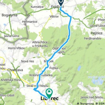 Frýdlant-Liberec mimo hlavní cesty
