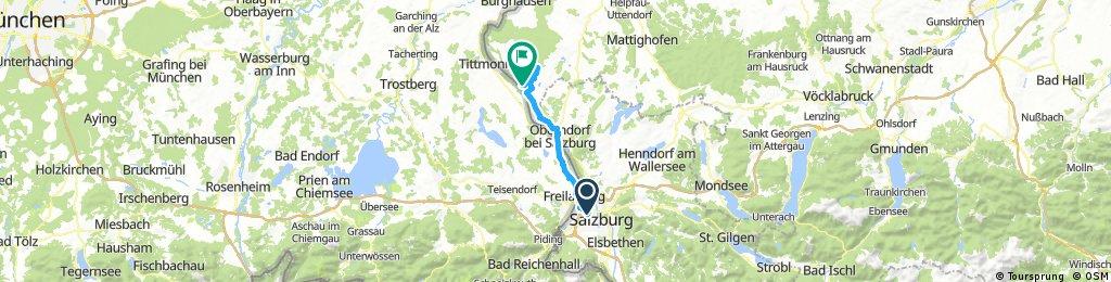Radfahren Albus Haus Riedersbach 43,5km 140hm 1h 35min