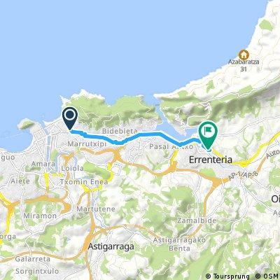 Quick ride from San Sebastián to Lezo