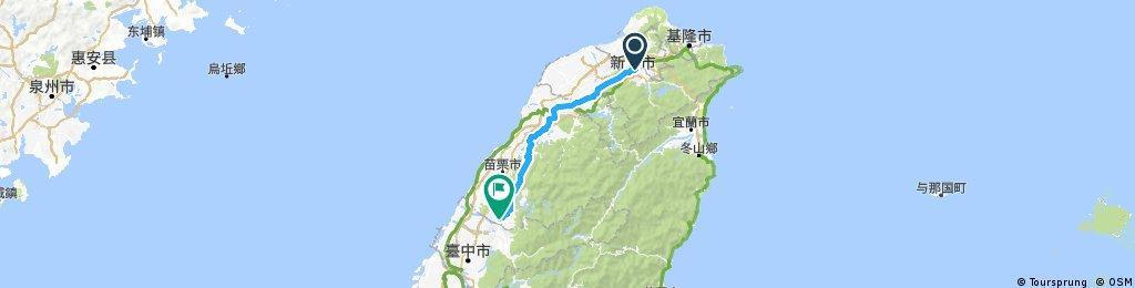 家->鶯歌->龍潭->台三->鯉魚潭