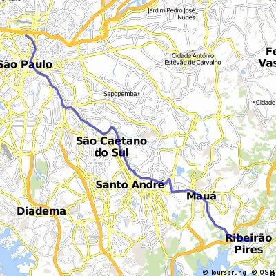 São Paulo / ABC / Ribeirão Pires - Rota Av. dos Estados