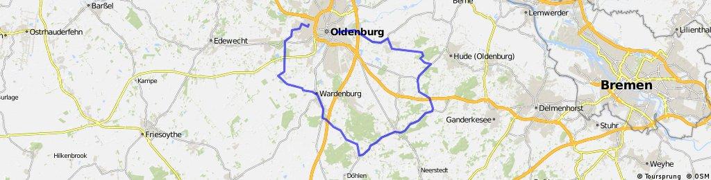 Oldenburg - Wardenburg -  Huntlosen - Hude - Oldenburg