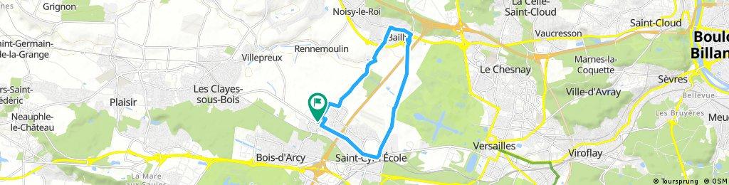 bike tour through Fontenay-le-Fleury