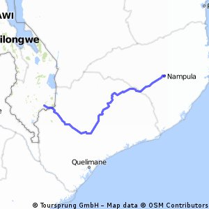 Cycling routes and bike maps in and around Mozambique Bikemap