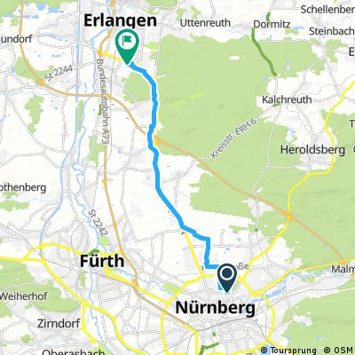 Radrunde von Nürnberg nach Erlangen