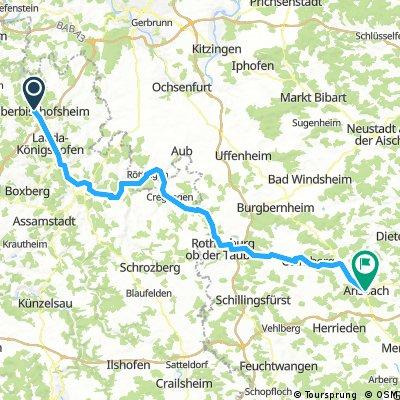 Teil II: Tauberbischofsheim - Ansbach