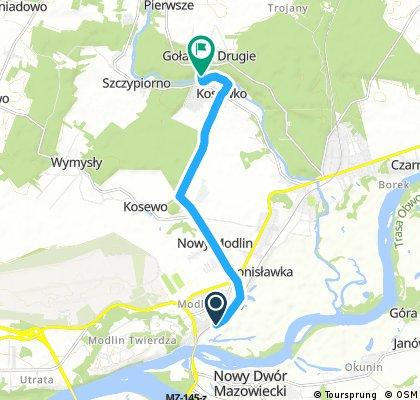 Brody Warszawskie - dojazd na trasę z Modlina
