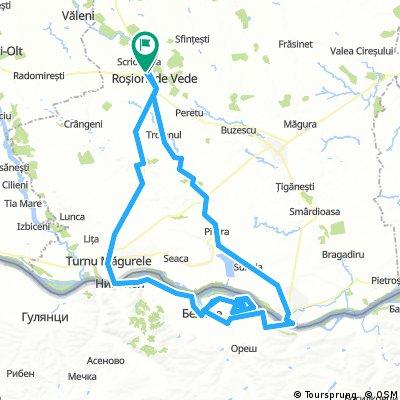Rosiorii de Vede - Turnu Magurele - Belene (rezervatie) - Zimnicea - Rosiorii de Vede