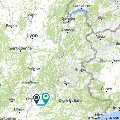 Traversée des Alpes Avignon Thônon-le-Bains