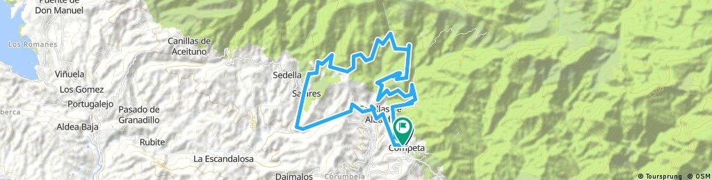 Cómpeta-Canillas de Albaida-Arenas-Canillas de Albaida-Cómpeta
