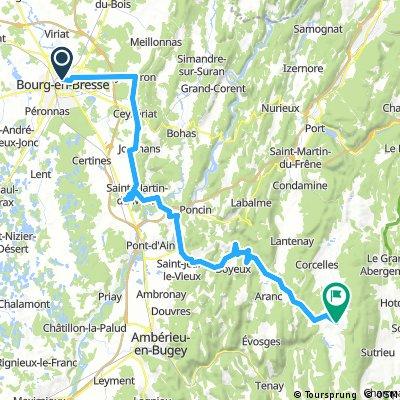 2016 Ride Day 144 - Bourg-en-Bresse to Hauteville-Lompnes
