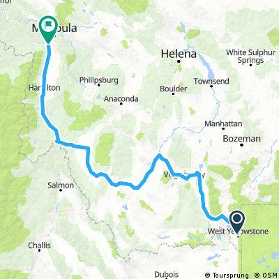 West Yellowstone to Missoula