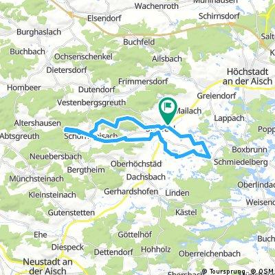 Uehlfelder Karpfenweg Schornwaisach und Rohensass