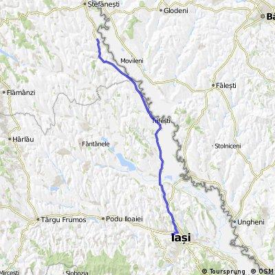 Traseu Damideni-Iasi (73 km)
