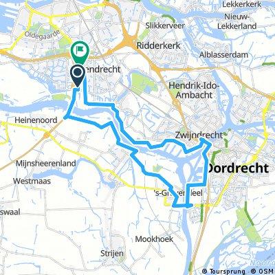 Barendrecht - Puttershoek - 's Gravendeel - Dordrecht - Zwijdrecht - Heerjansdam - Barendrecht