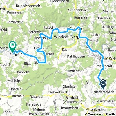 Lange Ausfahrt von Obererbach (Westerwald) nach Eitorf