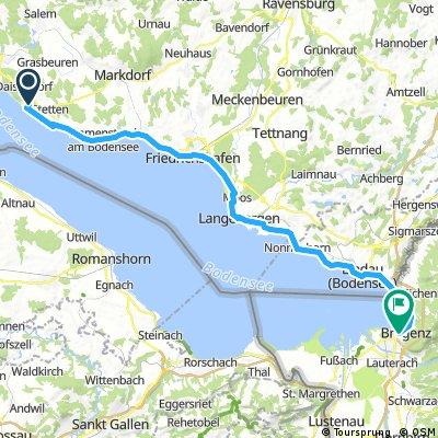 Bregenz-Meergburg, 50km Day1