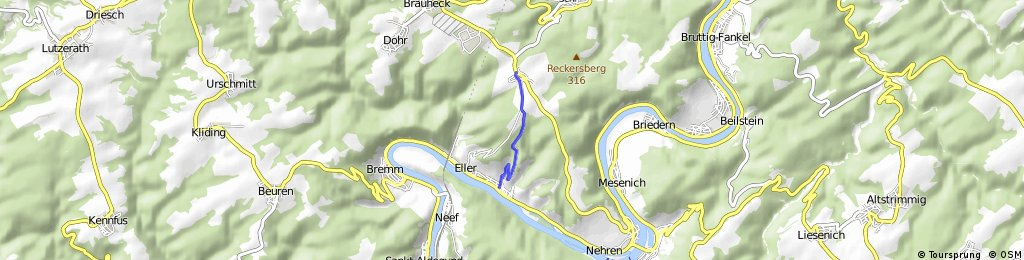 Bergtour Ediger bis zur K22 und zurück.