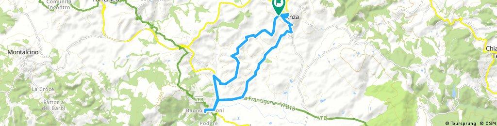 pienza- bikebagno vignoni