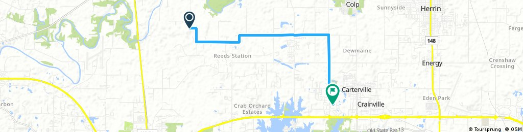 ride from De Soto to Carterville