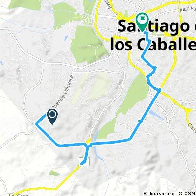 bike tour through Santiago