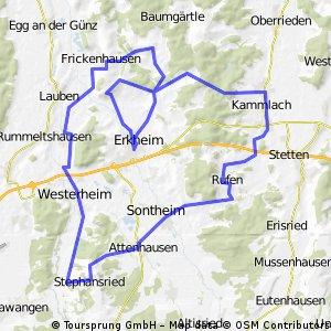 Tour rund um Erkheim 1