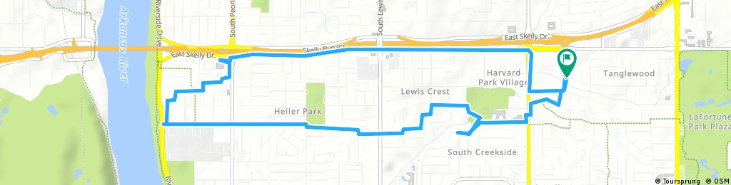 ride through Tulsa