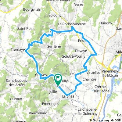 52 km Pruzilly - Pierreclos -Fuissé