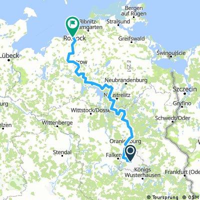 Radweg Berlin-Kopenhagen - Deutscher Abschnitt