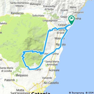 Taormina Etna Climb From The Ne Bikemap Your Bike Routes
