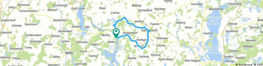 Rosenhagen - Mollin - Gadebusch - Krembz - Dutzow