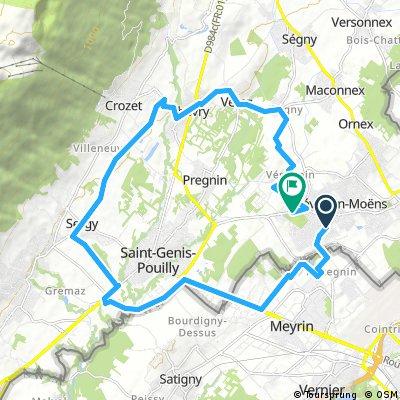 bike tour through Prévessin-Moëns